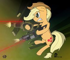 Applejack WARFARE by Rapiddash189