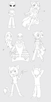 New Genome OCT Round 1 Chibis by scarlettie90