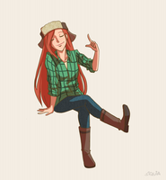 Lumberjack Girl by siquia