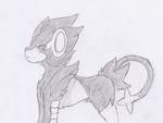I was bored, so i  drew a luxray. by HarryNickolls