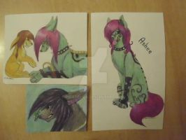 Gift, aceo and RQ for Asheex3 by PirateLila