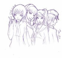 P4 girls sketch by melrw22