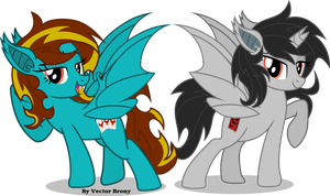 Kp and Rio bat ponies by Vector-Brony