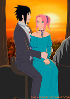 SasuSaku at the horse walk. by byBlackRose