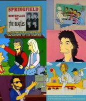 The Beatles in the Simpsons by daiiii