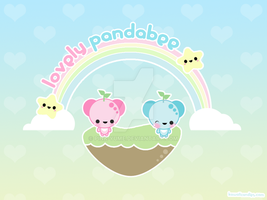 Mini Pandabee Wallpaper by pink-yume