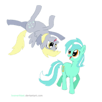 derpy and lyra by Beaverblast