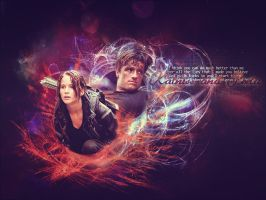 . katniss and peeta wallpaper . by ImprintedVampire