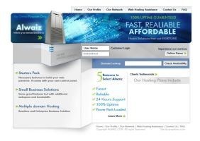 Web Interface for Hosting Comp by graphican