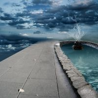 Background - Sky fountain 2 by ShiStock