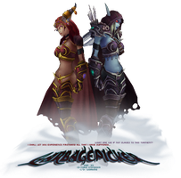 Alexstrasza and Sylvanas ID by garbagepicker