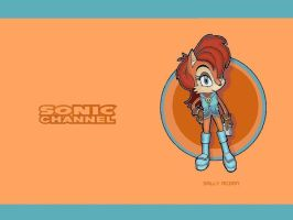 Sonic Channel Sally Wallpaper by E-122-Psi