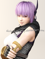 Ayane: A Rare Smile by DistortedPoetry