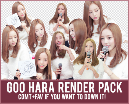 Goo Hara Render Pack by Know-chan