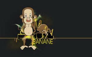 The monkey love Banane by Snook-Dog