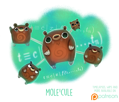 Daily Paint 1505. Mole'cule by Cryptid-Creations