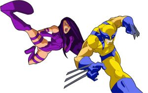 wolverine and psylocke by pashburn