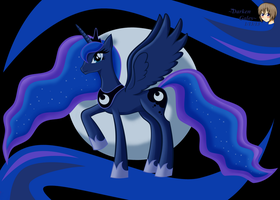 Princess Luna (color) by DarkenGales