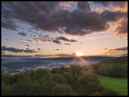 Sunset on Erben's tower by Pildik