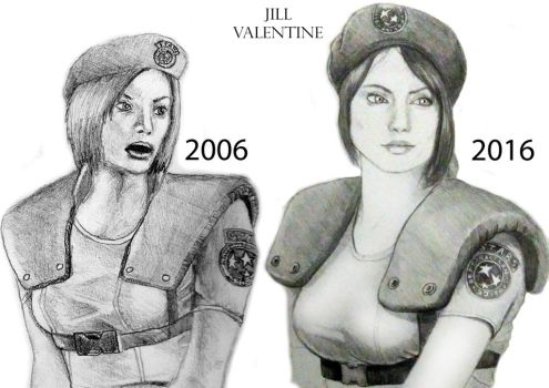 Jill Valentine Then And Now by adamero