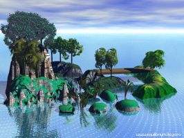 small_island_with_rocks by equilibrium3e