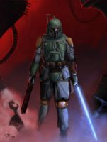 Boba Fett Birthday poster by umbrafox