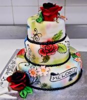 Tattoo cake side 2 by buttercreamfantasies