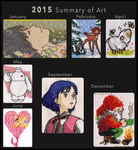 2015 Summary of Art by xMelodyHeartsx