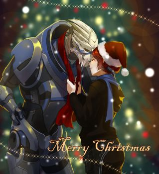 Mass Effect Christmas by kotorikurama