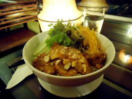 Noodle with Grilled Chicken by vungoclam