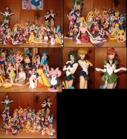 Sailor Moon Figure Collection by ashleighvestia