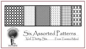 Twisted Mind Assorted Pattern Set 36 by Textures-and-More