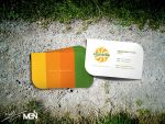 Green B.card by MGNdesigner