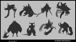 Monster Silhouettes 02 by Baelgrave
