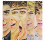 One Direction Color Pencils by akshay-nair