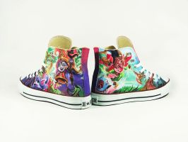 Fan art , Lulu League of legends , custom converse by Annatarhouse