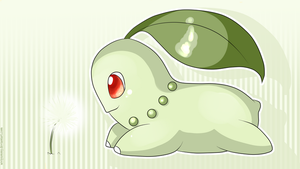 Chikorita Wallpaper by SeviYummy