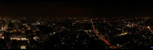Bangkok night panorama by Jensfromsweden