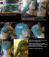 Cosplay progress - MH Rathalos helmet by Grethe--B