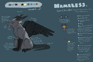 Nameless Reference Sheet by Frindle