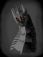 sauron as a dragon by selftaughtartist1