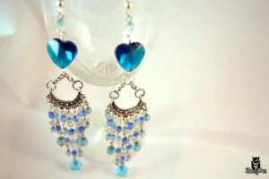 Heart of the moon earrings 2 by zestyden