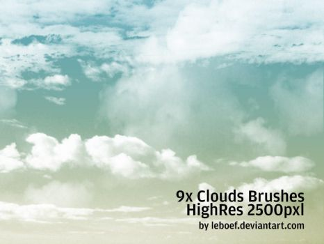Cloud Brushes HiRes Nr.2 of 5 by leboef
