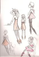 pale pink dresses by mox-ie