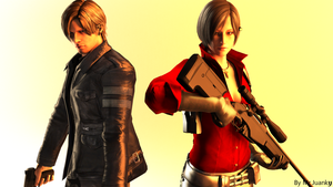 Ada Wong and Leon S. Kennedy RE6 by mr-juanky