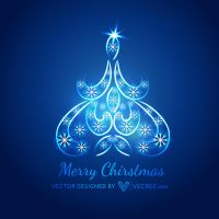 Merry Christmas Tree Free Vector by vecree
