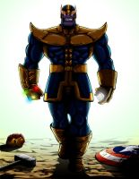 Thanos Infinity Gauntlet by JTSubconscious8