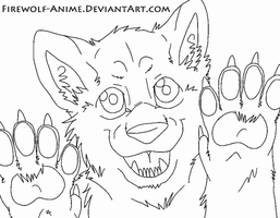 In Yo Face! Line Art by Firewolf-Anime