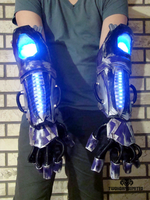 The K-WIR3 light up strobing cyber gauntlets by TwoHornsUnited