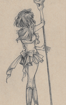 Sailor Saturn 2014 by AssClownFish